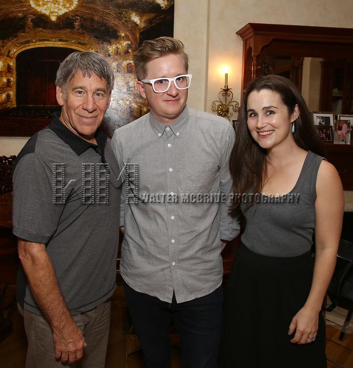 Stephen Schwartz, Kyle Jarrow and Lauren Worsham attends the DGF Salon with Kyle Jarrow on November  1, 2018 at The Uterbetg Residence in New York City.