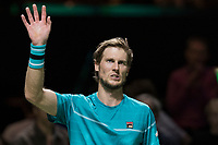 Rotterdam, Netherlands, 12 Februari, 2018, Ahoy, Tennis, ABNAMROWTT, Andreas Seppi (ITA) waves to the crowd after winning in the first round<br /> Photo:tennisimages.com