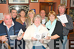 Picking Winners: Supporting the Race night in Kirbys bar, Ballyheigue last Friday night to help raise funds for Glenderry national school, which was organised by the parents association were front l-r: Jim and Carol Godley with Kit Naughton. Back l-r: John O'Hara, Mary Higgins, Ann Kissane, Tim Kennedy and Mike Leane.   Copyright Kerry's Eye 2008
