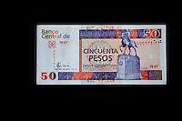 """Cuba, Havana.  """"Pesos Convertibles"""", the pesos used by tourists in Cuba.  This is a 50 peso note."""