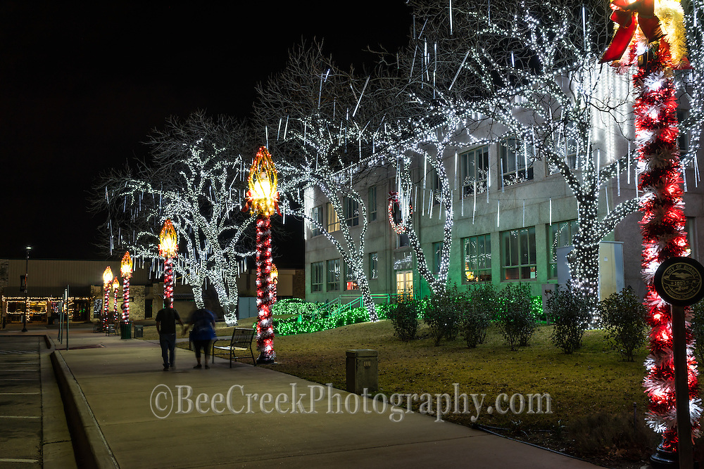 People walking the town square in Burnett town square with all it holiday decorations  made for a magical moment.