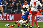 16.03.2019, VELTINS-Arena, Gelsenkirchen, GER, DFL, 1. BL, FC Schalke 04 vs RB Leipzig, DFL regulations prohibit any use of photographs as image sequences and/or quasi-video<br /> <br /> im Bild v. li. im Zweikampf Benjamin Stambouli (#17, FC Schalke 04) Tyler Adams (#14, RB Leipzig)  <br /> <br /> Foto © nph/Mauelshagen