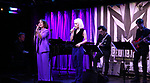 Leslie Kritzer and Sophia Anne Caruso with band during Broadway's 'Beetlejuice' - First Look Presentation at Subculture  on February 28, 2019 in New York City.