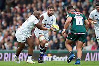 Elliott Stooke of Bath Rugby in possession. Aviva Premiership match, between Leicester Tigers and Bath Rugby on September 3, 2017 at Welford Road in Leicester, England. Photo by: Patrick Khachfe / Onside Images