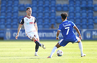 Bolton Wanderers' Gethin Jones and Colchester United's Courtney Senior<br /> <br /> Photographer Rob Newell/CameraSport<br /> <br /> The EFL Sky Bet League Two - Colchester United v Bolton Wanderers - Saturday 19th September 2020 - Colchester Community Stadium - Colchester<br /> <br /> World Copyright © 2020 CameraSport. All rights reserved. 43 Linden Ave. Countesthorpe. Leicester. England. LE8 5PG - Tel: +44 (0) 116 277 4147 - admin@camerasport.com - www.camerasport.com