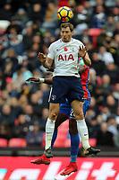 Jan Vertonghen of Tottenham Hotspur and Timothy Fosu-Mensah of Crystal Palace during Tottenham Hotspur vs Crystal Palace, Premier League Football at Wembley Stadium on 5th November 2017