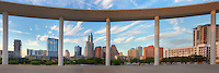 This panorama of the downtown Austin skyline is a stitch of several images and looks northeast from the Long Center pavillion.