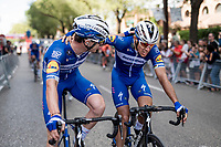 Philippe Gilbert (BEL/Deceuninck-Quickstep) wins his 2nd stage in this Vuelta (his 7th in total) after some superfast racing where his team dominated this echelon-race to the finish.<br /> <br /> Stage 17: Aranda de Duero to Guadalajara (220km)<br /> La Vuelta 2019<br /> <br /> ©kramon