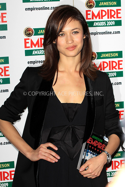 ACEPIXS.Com.............US SALES ONLY.....March 29 2009, London..Actress Olga Kurylenko at The Jameson Empire Film Awards 2009 at the Grosvenor House hotel on March 29 2009 in London ...Please by line:  Famous/ACEPIXS.com..ACE Pictures, Inc.tel: 212 243 8787 or 646 769 0430.Fax: 212 243 8718.Email: info@acepixs.com.www.acepixs.com.