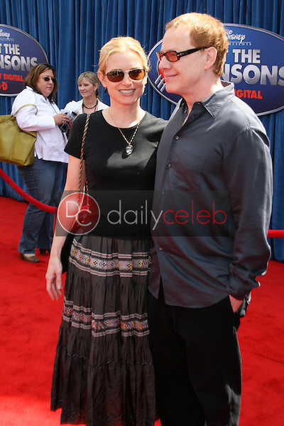 Bridget Fonda and Danny Elfman<br />