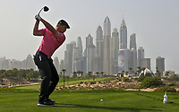 Bryson Dechambeau (USA) on the 8th during Round 2 of the Omega Dubai Desert Classic, Emirates Golf Club, Dubai,  United Arab Emirates. 25/01/2019<br /> Picture: Golffile | Thos Caffrey<br /> <br /> <br /> All photo usage must carry mandatory copyright credit (© Golffile | Thos Caffrey)
