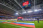 Solna 2014-10-09 Fotboll EM-kval , Sverige - Ryssland :  <br /> Vy &ouml;ver Friends Arena under lineup inf&ouml;r matchen Sverige och Ryssland<br /> (Photo: Kenta J&ouml;nsson) Keywords:  Sweden Sverige Friends Arena EM Kval EM-kval UEFA Euro European 2016 Qualifier Qualifiers Qualifying Group Grupp G Ryssland Russia inomhus interi&ouml;r interior supporter fans publik supporters