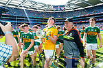 Marc Kelliher and Christy Kileen The Kerry minor team celebrate after winning the Electric Ireland GAA Football All-Ireland Minor Championship final between Kerry and Galway at Croke Park, Dublin.