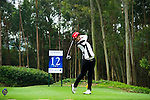 Saraporn Chamchoi of Thailand tees off during the 2011 Faldo Series Asia Grand Final on the Faldo Course at Mission Hills Golf Club in Shenzhen, China. Photo by Raf Sanchez / Faldo Series