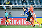 Jeju United Forward Marcelo Toscano (R) fights for the ball with Gamba Osaka Defender Oh Jaesuk (L) during the AFC Champions League 2017 Group H match Between Jeju United FC (KOR) vs Gamba Osaka (JPN) at the Jeju World Cup Stadium on 09 May 2017 in Jeju, South Korea. Photo by Marcio Rodrigo Machado / Power Sport Images