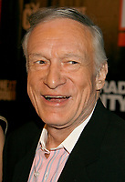 """27 September 2017 - Hugh Marston Hefner aka """"Hef"""" was an American magazine publisher, editor, businessman, and international playboy best known as the editor-in-chief and publisher of Playboy magazine, which he founded in 1953. Hefner was the founder and chief creative officer of Playboy Enterprises, the publishing group that operates the magazine. Hefner was also a political activist and philanthropist. File Photo: 27 February 2007 - Holmby Hills, California - Hugh Hefner. """"The Girls Next Door"""" Season 3 Launch Party held at The Playboy Mansion. Photo Credit: Russ Elliot/AdMedia"""