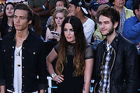 """WESTWOOD, LOS ANGELES, CA, USA - MARCH 18: Matthew Koma, Miriam Bryant, Zedd at the World Premiere Of Summit Entertainment's """"Divergent"""" held at the Regency Bruin Theatre on March 18, 2014 in Westwood, Los Angeles, California, United States. (Photo by David Acosta/Celebrity Monitor)"""