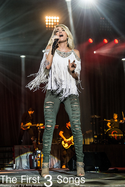 Carrie Underwood performs during the 4th Annual ACM Party for a Cause Festival at the Las Vegas Festival Grounds in Las Vegas, Nevada.