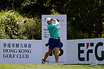Ching Huang  of Taiwan tees off during the first round of the EFG Hong Kong Ladies Open at the Hong Kong Golf Club Old Course on May 11, 2018 in Hong Kong. Photo by Marcio Rodrigo Machado / Power Sport Images
