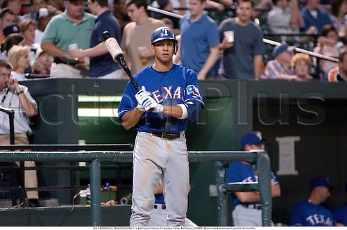 ALEX RODRIGUEZ, TEXAS RANGERS 11 v Baltimore Orioles 2, Camden Yards, Baltimore, 020905. Photo: Mark Goldman/Icon SMI/Action Plus...2002 baseball