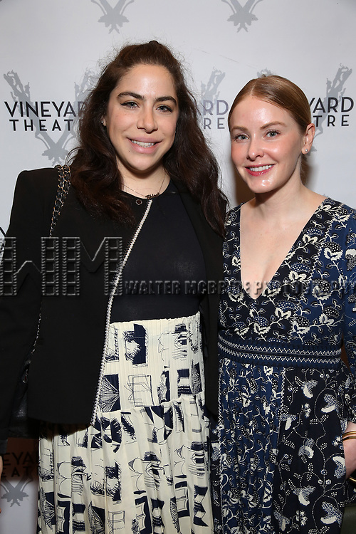"""Chloe Kent and Kate Robards attending the Opening Night Performance for The Vineyard Theatre production of  """"Do You Feel Anger?"""" at the Vineyard Theatre on April 2, 2019 in New York City."""