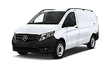 2019 Mercedes Benz Metris Base 5 Door Cargo Van angular front stock photos of front three quarter view