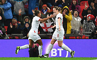 9th November 2019; Wembley Stadium, London, England; International Womens Football Friendly, England women versus Germany women; Ellen White of England celebrates with Nikita Parris on scoring in 44th minute to bring the scores level 1-1 - Editorial Use