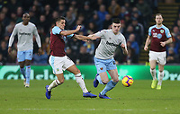 West Ham United's Declan Rice and Burnley's Ashley Westwood<br /> <br /> Photographer Rob Newell/CameraSport<br /> <br /> The Premier League - Burnley v West Ham United - Sunday 30th December 2018 - Turf Moor - Burnley<br /> <br /> World Copyright © 2018 CameraSport. All rights reserved. 43 Linden Ave. Countesthorpe. Leicester. England. LE8 5PG - Tel: +44 (0) 116 277 4147 - admin@camerasport.com - www.camerasport.com