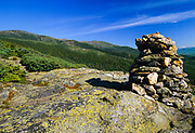 Looking across the Gulf of Slides at Boott Spur(left) from Glen Boulder Trail in the White Mountains, New Hampshire USA