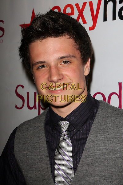 "JOSH HUTCHERSON.""Supermodels Unlimited Magazine"" Present Hollywood's 100 Most Beautiful Issue Release Party held at Social Hollywood, Hollywood, California, USA..November 12th, 2008.headshot portrait grey gray .CAP/ADM/FS.©Faye Sadou/AdMedia/Capital Pictures."