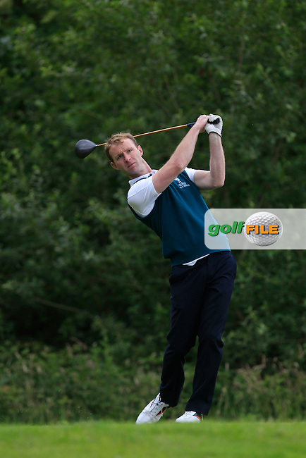 Tim Cullinane (Lee Valley) on the 12th tee during the Semi-Finals of the Munster Bruen &amp; Shield Finals at East Clare Golf Club on Sunday 19th July 2015.<br /> Picture:  Golffile | Thos Caffrey All photo usage must carry mandatory copyright credit (&copy; Golffile | Thos Caffrey)