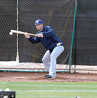 Casey Kelly #78 of the San Diego Padres participates in spring training workouts at the Peoria Sports Complex on February 27, 2011  in Peoria, Arizona.   .Photo by:  Bill Mitchell/Four Seam Images.