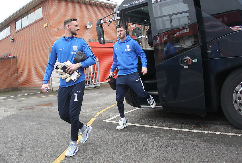 Preston North End's Declan Rudd leaves the team bus<br /> <br /> Photographer Mick Walker/CameraSport<br /> <br /> The EFL Sky Bet Championship - Nottingham Forest v Preston North End - Saturday 8th December 2018 - The City Ground - Nottingham<br /> <br /> World Copyright © 2018 CameraSport. All rights reserved. 43 Linden Ave. Countesthorpe. Leicester. England. LE8 5PG - Tel: +44 (0) 116 277 4147 - admin@camerasport.com - www.camerasport.com