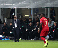 Football: Uefa Nations League Group 3match Italy vs Portugal at Giuseppe Meazza (San Siro) stadium in Milan, on November 17, 2018.<br /> Portugal's national team coach Fernando Santos looks on during the Uefa Nations League match between Italy and Portugal at Giuseppe Meazza (San Siro) stadium in Milan, on November 17, 2018.<br /> UPDATE IMAGES PRESS/Isabella Bonotto