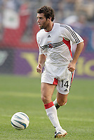D.C. United's Ben Olsen. The New England Revolution and D.C. United finished in a scoreless tie in MLS play at Gillette Stadium, Foxboro, MA on Saturday August 28, 2004.