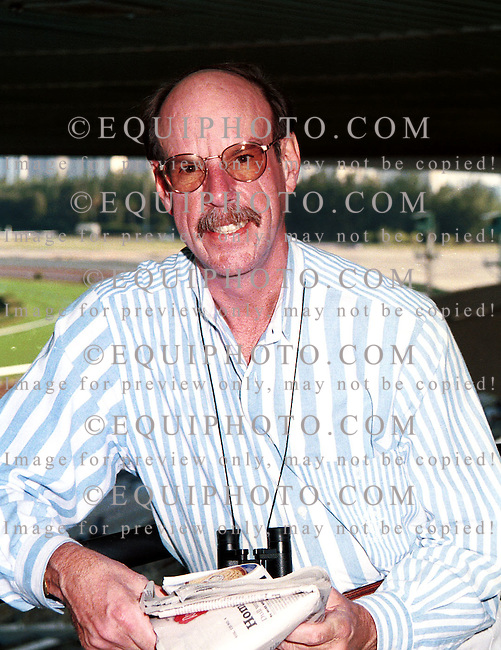 Andy Beyer, at Gulfstream Park.  Photo by: Equi-Photo