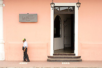 Entrance to Casa La Merced Hotel in the Spanish colonial city of Granada, Nicaragua