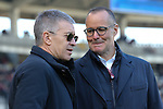 Bologna FC CEO Claudio Fenucci speaks with Chairman Joey Saputo during the Serie A match at Stadio Grande Torino, Turin. Picture date: 12th January 2020. Picture credit should read: Jonathan Moscrop/Sportimage