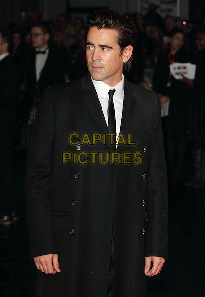 Colin Farrell<br /> BFI London Film Festival Closing Gala and World Premiere of 'Saving Mr Banks' at the Odeon Leicester Square, London, England.<br /> October 20th 2013<br /> half length black suit tie white shirt  <br /> CAP/ROS<br /> &copy;Steve Ross/Capital Pictures