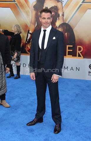 HOLLYWOOD, CA - MAY 25: Chris Pine, at the Wonder Woman Los Angeles Film Premiere at The Pantages in Hollywood, California on May 25, 2017. Credit: Faye Sadou/MediaPunch