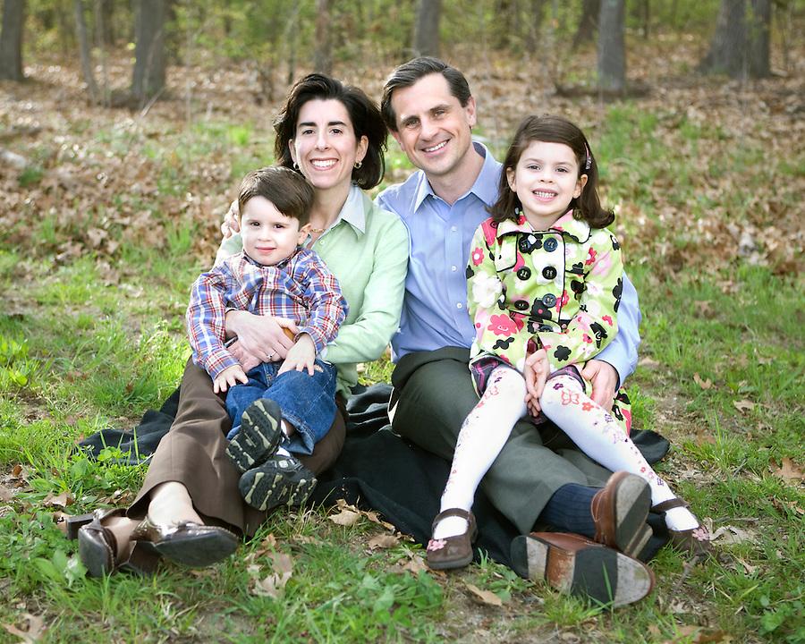 General Treasurer Gina Raimondo and family.