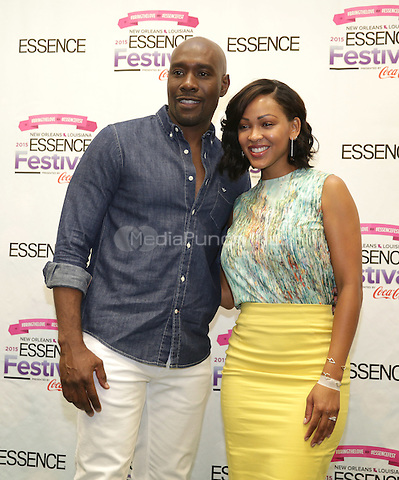 NEW ORLEANS, LA - JULY 3: Morris Chestnut and Meagan Good attend the 2015 Essence Festival at the Ernest N. Morial Convention Center on July 3, 2015 in New Orleans, Louisiana. Credit: PGDH/MediaPunch