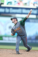 Tyler Ihrig #17 of the Boise Hawks pitches against the Everett AquaSox at Everett Memorial Stadium on July 25, 2014 in Everett, Washington. Everett defeated Boise, 2-1. (Larry Goren/Four Seam Images)