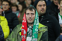 A Ludogorets Razgrad fan looks on during the UEFA Champions League match between Arsenal and PFC Ludogorets Razgrad at the Emirates Stadium, London, England on 19 October 2016. Photo by David Horn / PRiME Media Images.