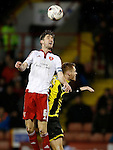 Chris Basham of Sheffield Utd and Tom Naylor of Burton Albion - English League One - Sheffield Utd vs Burton Albion - Bramall Lane Stadium - Sheffield - England - 1st March 2016 - Pic Simon Bellis/Sportimage