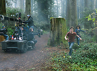 A Wrinkle in Time (2018) <br /> Behind the scenes photo of Levi Miller &amp; Storm Reid<br /> *Filmstill - Editorial Use Only*<br /> CAP/MFS<br /> Image supplied by Capital Pictures