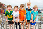 Jason Gaynor, Padraig Curtin, Dylan McEvoy, Ben O'Connor and Jamie McEvoy at the Ballyheigue Summer Fest Parade on Sunday