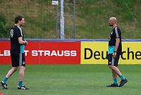 Interims-Bundestrainer Marcus Sorg (Deutschland Germany) mit seinem Co-Trainer Antonio die Salvo - 04.06.2019: Training der Deutschen Nationalmannschaft zur EM-Qualifikation in Venlo/NL