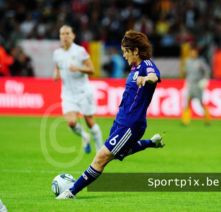 Fifa Women's World Cup Germany 2011 : Japan - USA  at Commerzbank Arena Frankfurt : Mizuho Sakaguchi.foto DAVID CATRY / Vrouwenteam.be