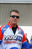 May 11, 2013; Commerce, GA, USA: NHRA pro stock driver Greg Stanfield during the Southern Nationals at Atlanta Dragway. Mandatory Credit: Mark J. Rebilas-